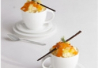 Pineapple Rice Pudding Passion Fruit and Pineapple Sauce